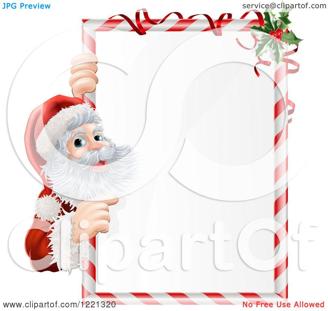 Clipart of Santa Claus Looking