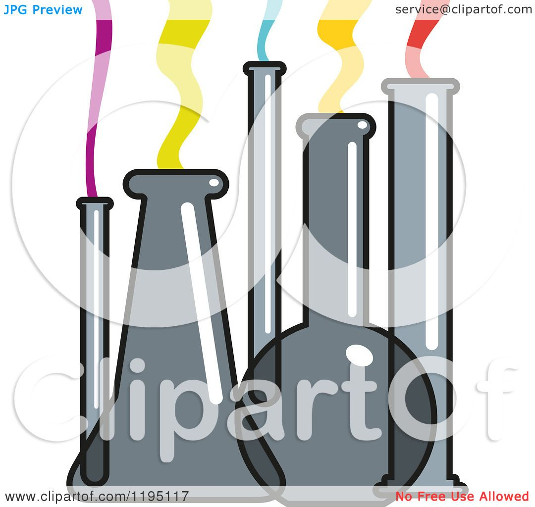 Clipart Of Science Lab Flasks And Test Tubes With Colorful -4923