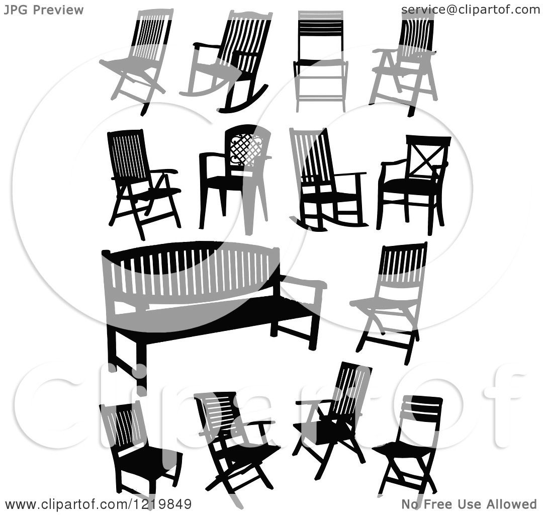 Adirondack chairs clipartsilhouette free images at clkercom -  Decorating Beach Chair Silhouette
