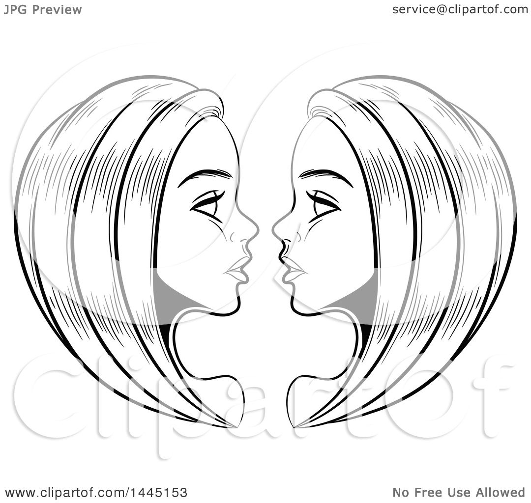 Clipart of sketched black and white astrology zodiac gemini twins clipart of sketched black and white astrology zodiac gemini twins with white fill royalty free vector illustration by cidepix biocorpaavc Images