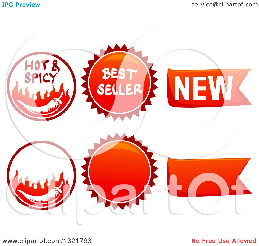 Clipart of Spicy Food Labels - Royalty Free Vector ...