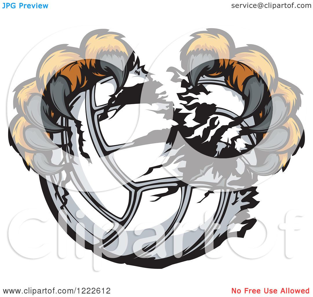 Eagle Claws Clipart Clipart of Tiger Claws Ripping