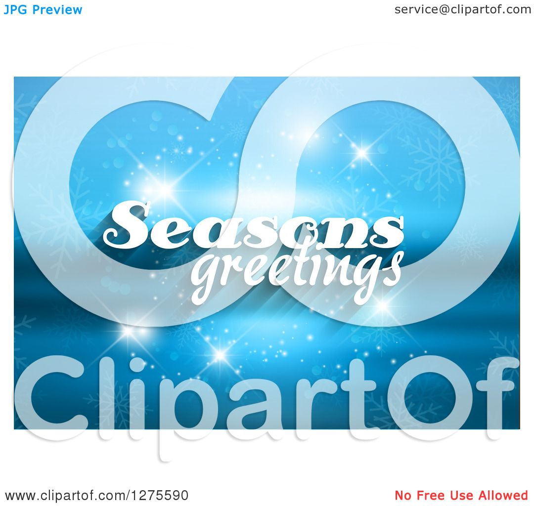 Clipart of white seasons greeting text over a blurred blue landscape clipart of white seasons greeting text over a blurred blue landscape with sparkles royalty free vector illustration by kj pargeter kristyandbryce Images