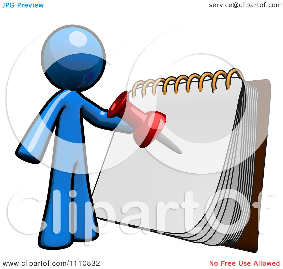 Organized Person Clipart Clipart organized blue guy