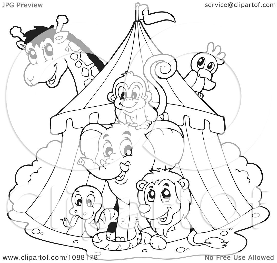 big top tent coloring pages - photo#21