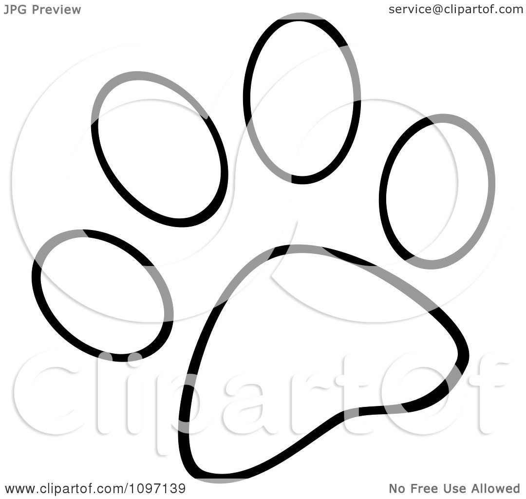 Puppy Paw Prints Coloring Pages