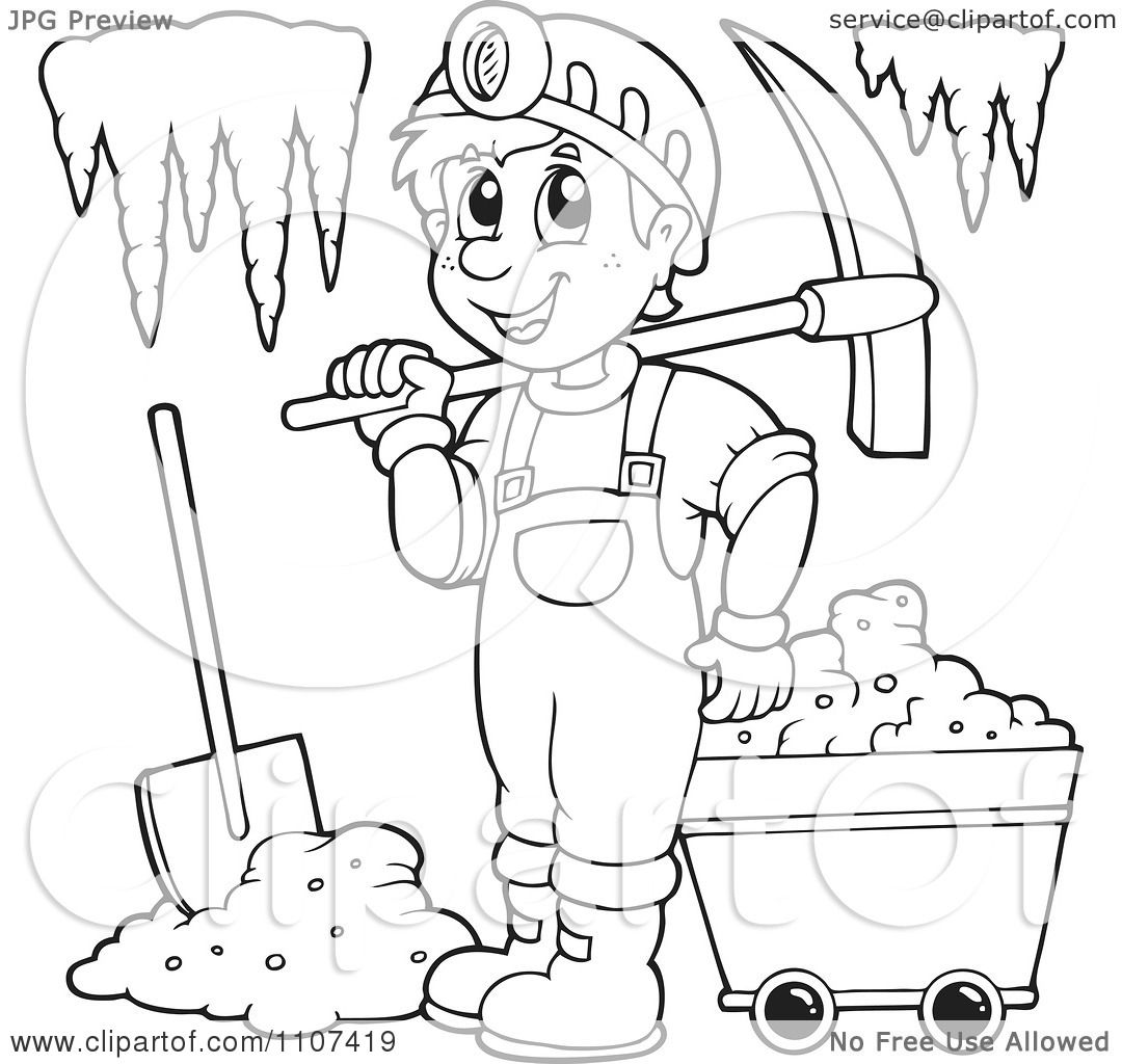 miner coloring pages - photo #15
