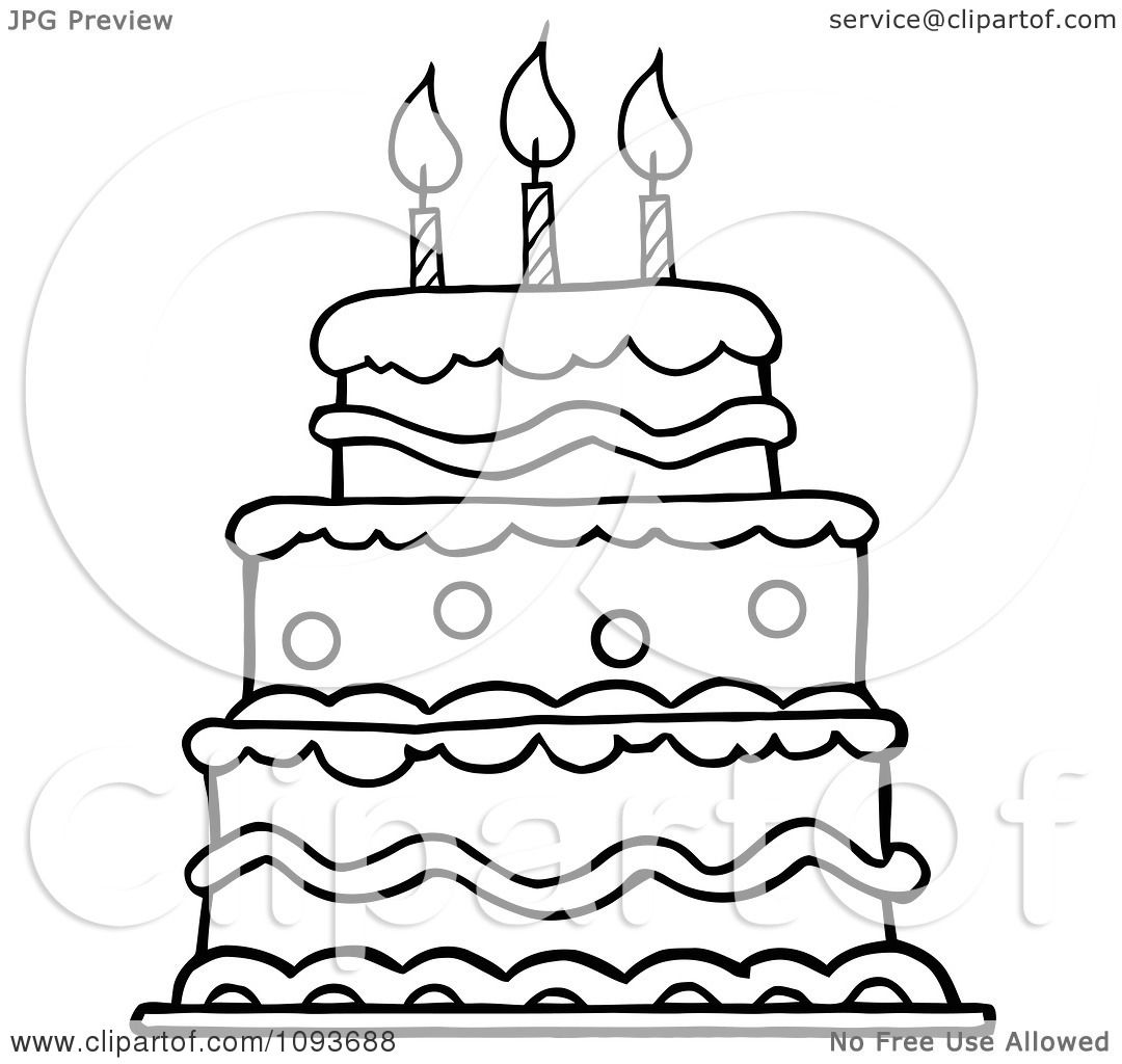 980 Birthday Cake Clip Art No Candles Public Domain Vectors