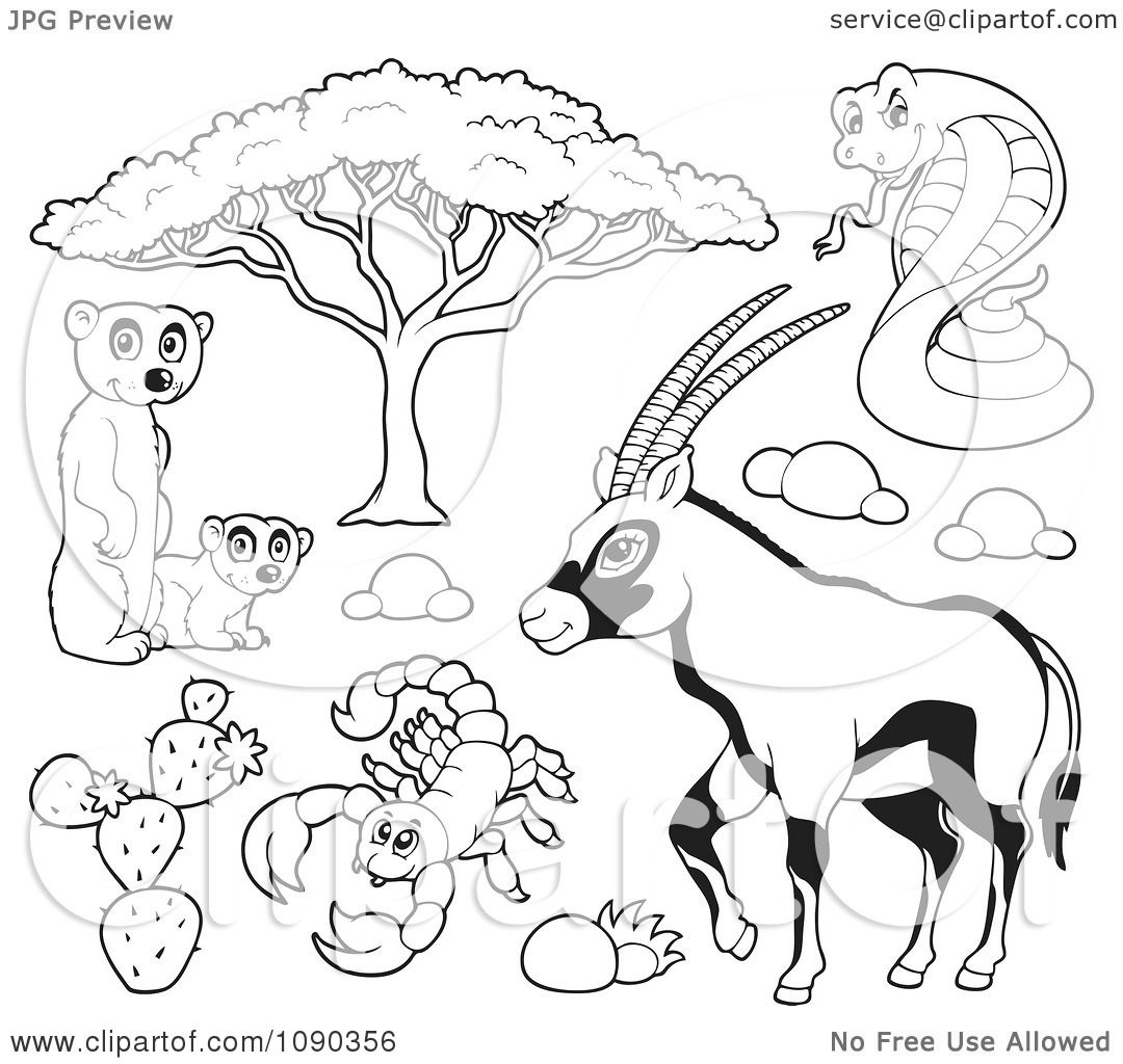 african savannah tree coloring pages - photo#20