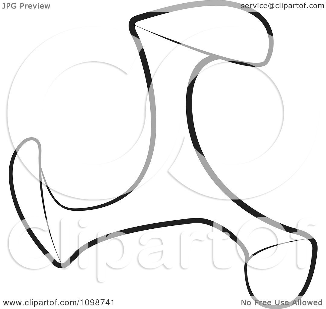 Clipart Outlined Shoe Maker Tool - Royalty Free Vector Illustration by