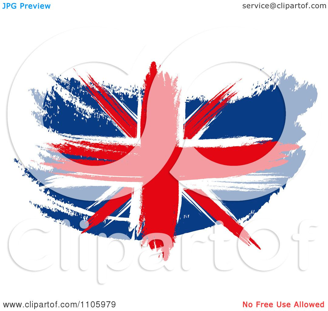 Clipart Painted Union Jack Flag - Royalty Free ...