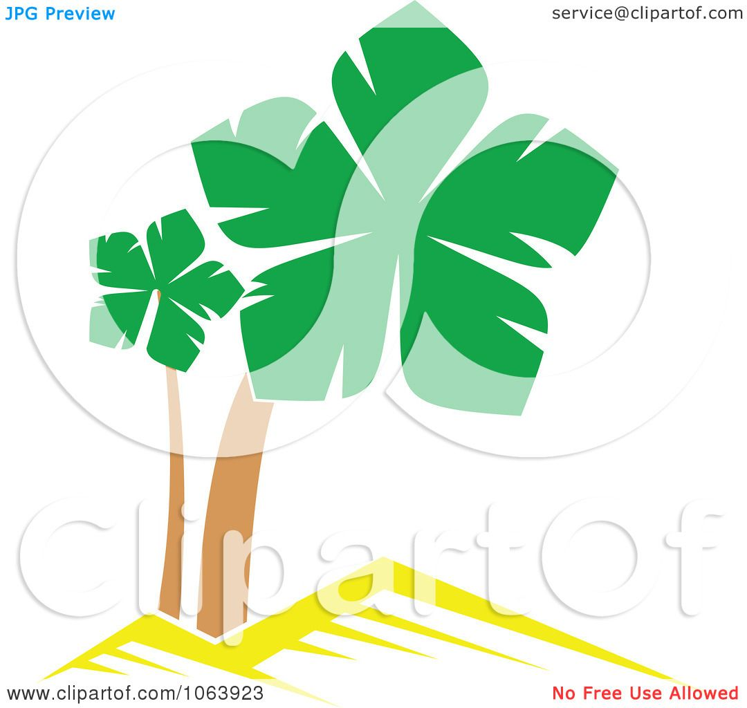 Clipart Palm Tree Logo 4 - Royalty Free Vector Illustration by ...