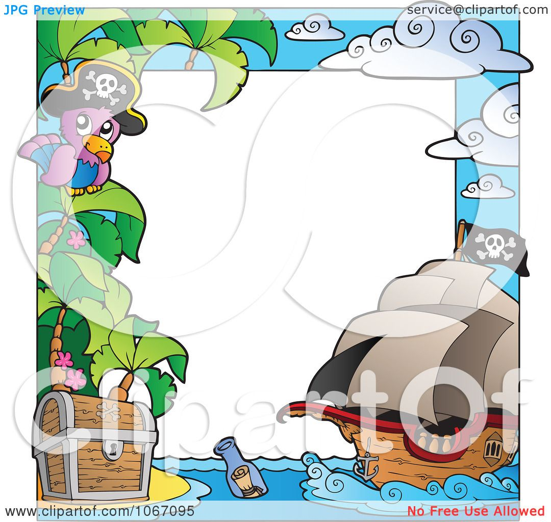 Clipart Parrot Pirate Frame 1 - Royalty Free Vector Illustration by ...