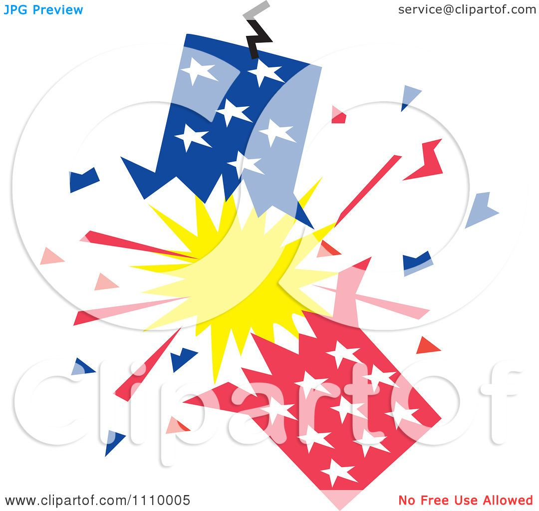 May The Fourth Be With You Clip Art: Clipart Patriotic American Fourth Of July Firecracker