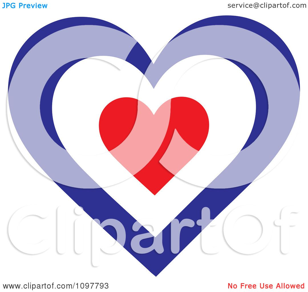 Clipart Patriotic Flag Heart With A French Design ...