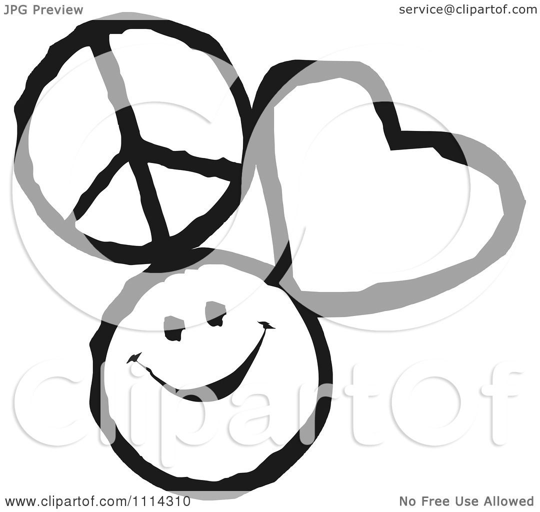 Clipart peace love and happiness icons in black and white royalty clipart peace love and happiness icons in black and white royalty free vector illustration by johnny sajem biocorpaavc Image collections