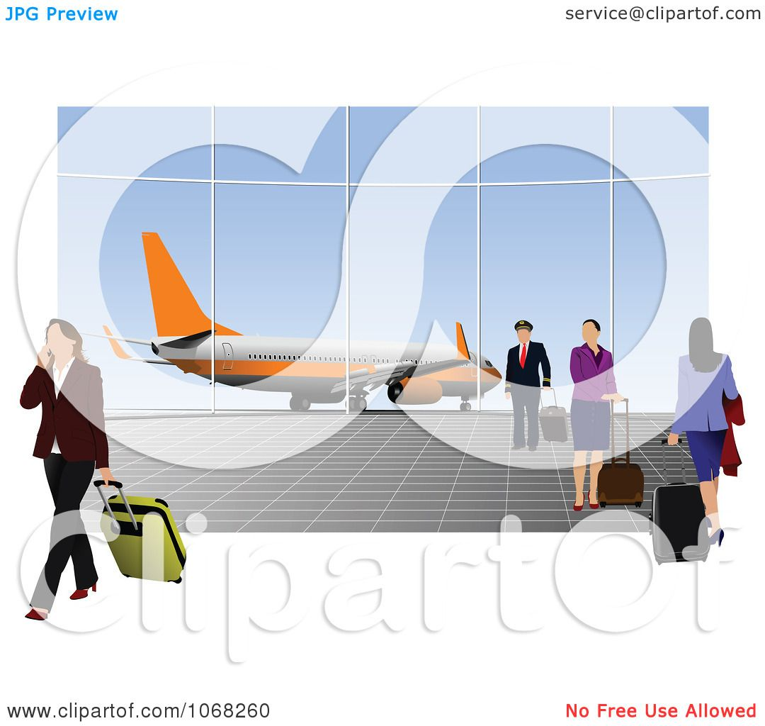 Clipart People In An Airport