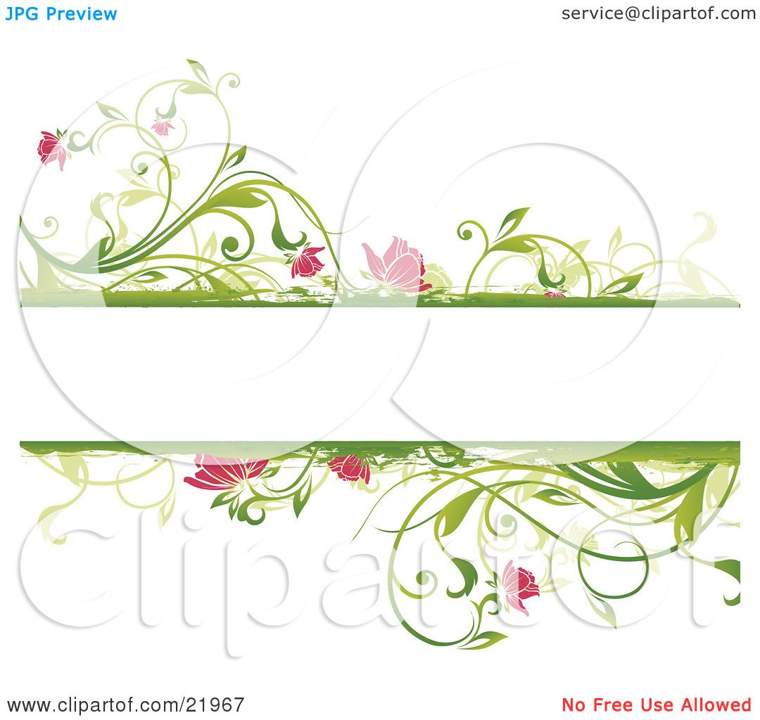 Clipart Picture Illustration of a Blank White Text Space With ...