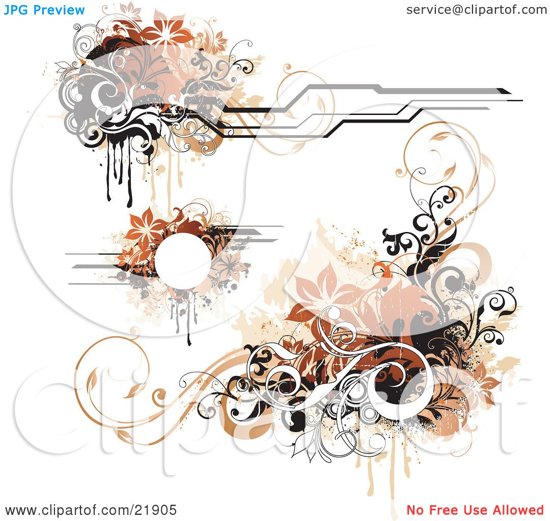 Clipart Picture Illustration Of A Collection Of Design Elements With