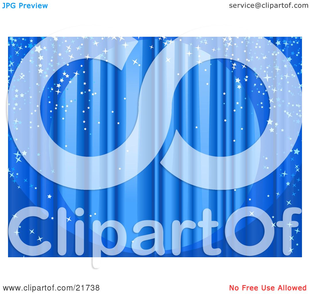 Free coloring pages of stage curtains - Clipart Picture Illustration Of A Spotlight Shining On Closed Blue Stage Curtains With Sparkling Confetti Falling Over The Stage By Tonis Pan