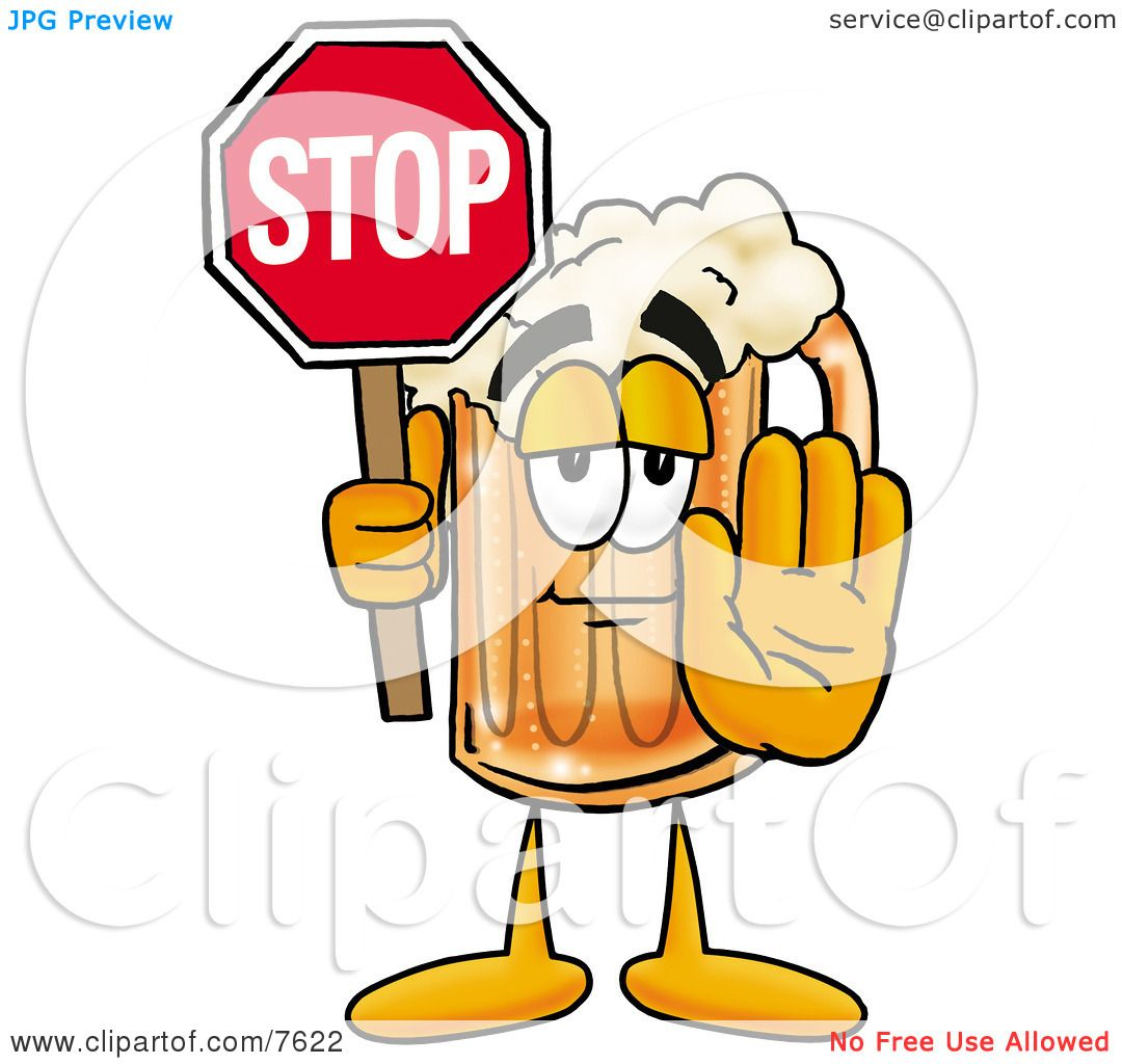 Clipart Picture of a Beer Mug Mascot Cartoon Character ...