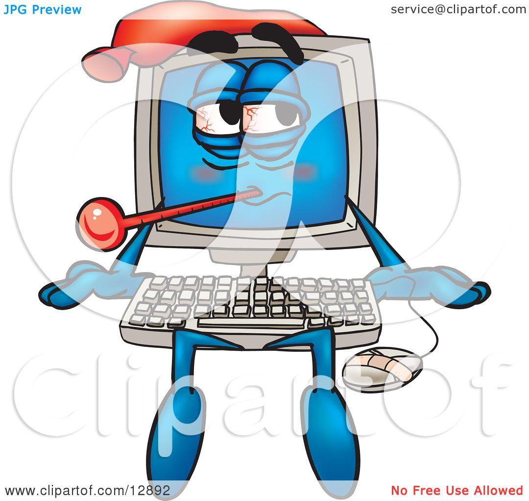 Sick Computer Clip Art