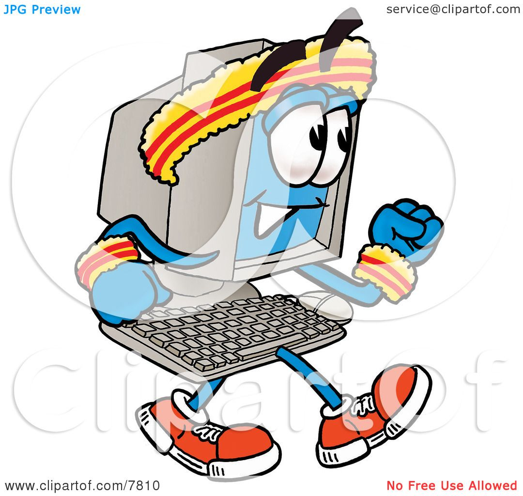 A Boy Watching A Funny Video Using A Desktop Computer – Clipart Cartoons By  VectorToons