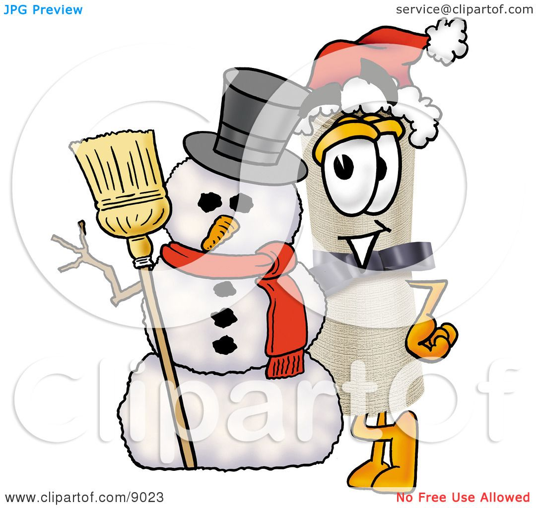 clipart picture of a diploma mascot cartoon character with a