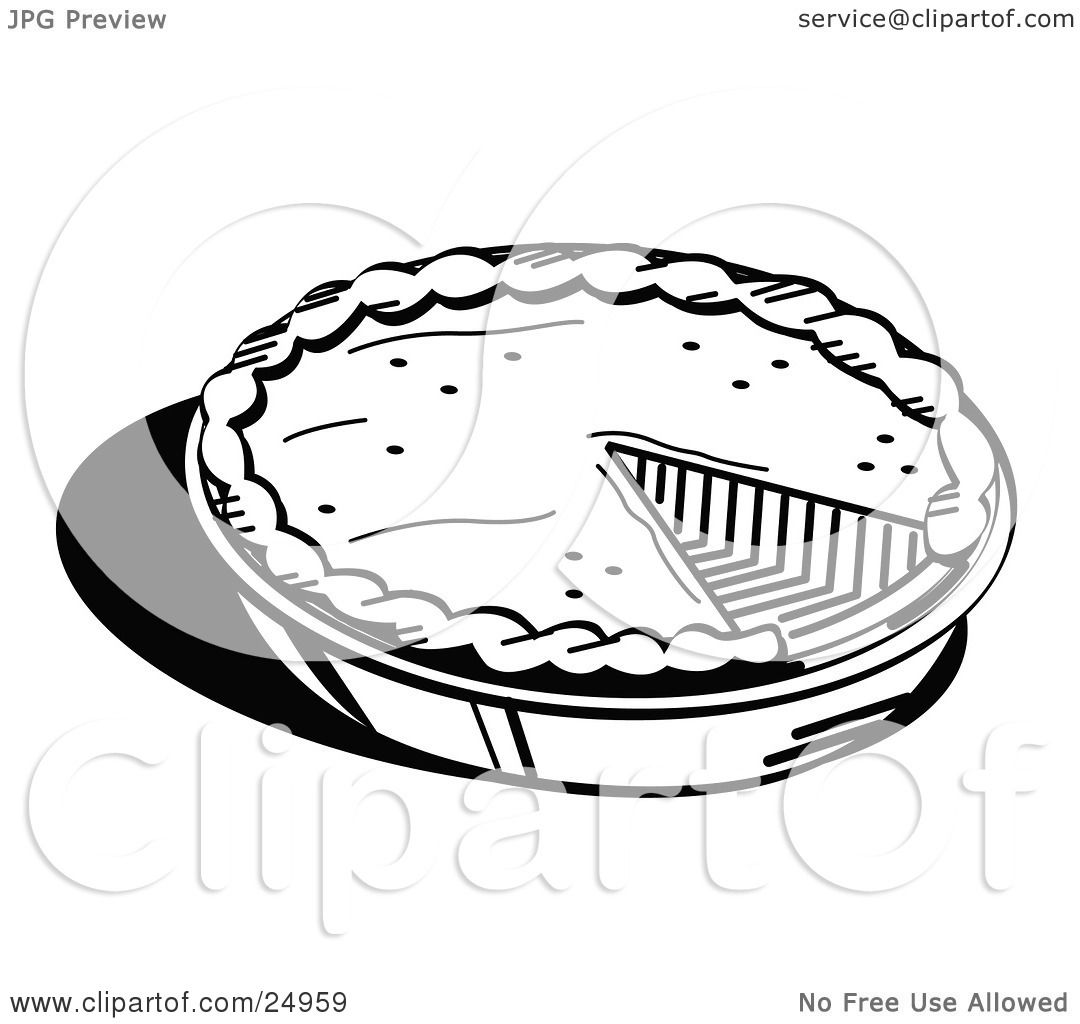 Clipart Picture of a Freshly Baked Pumpkin Pie In A Pan ...