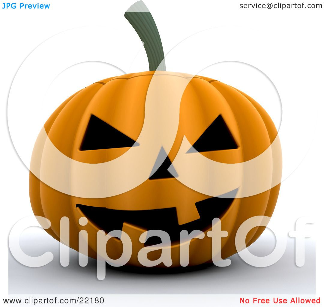 Clipart Picture of a Grinning Orange