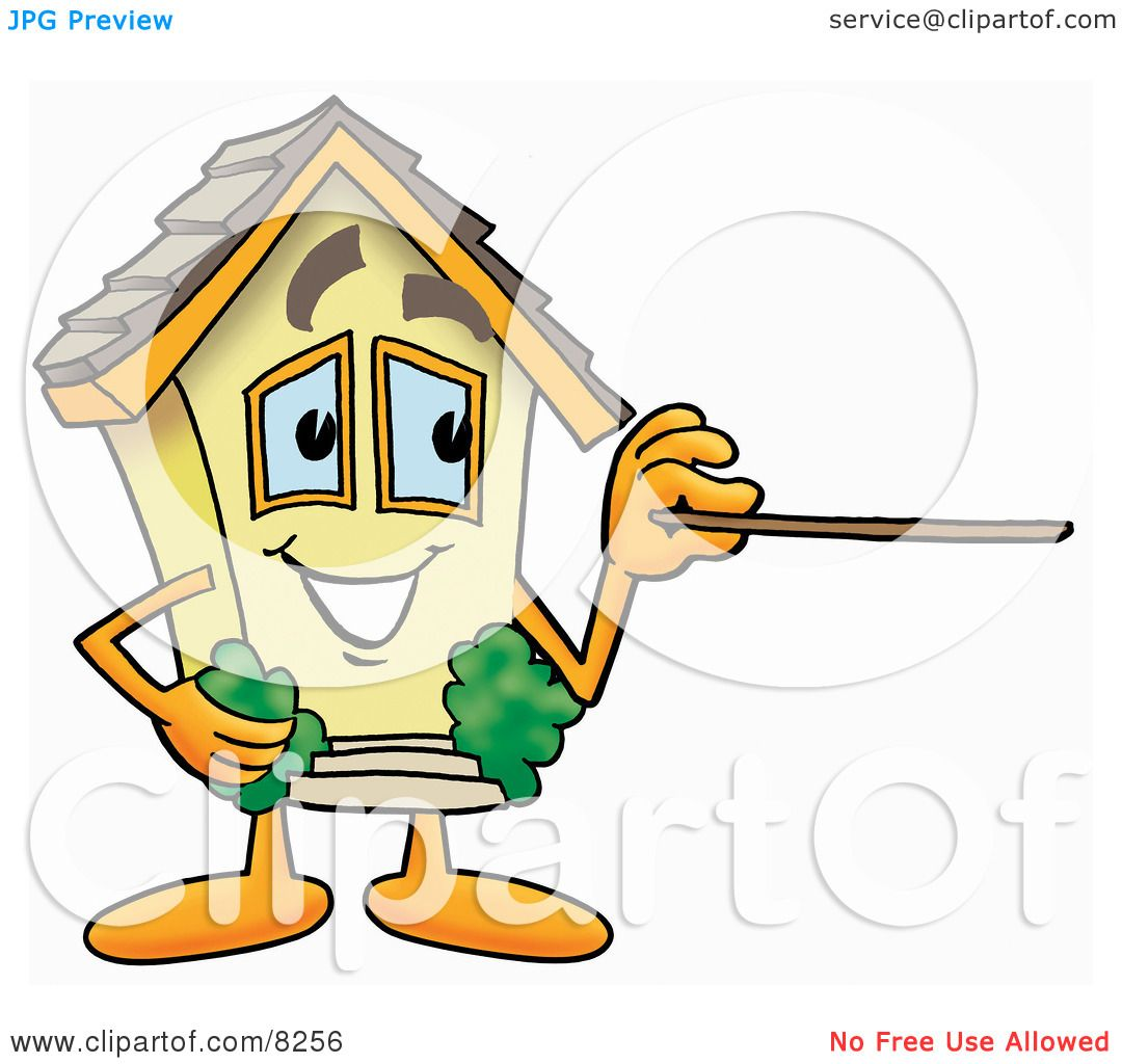 Clipart Picture of a House Mascot Cartoon Character ... House Made Of Sticks Cartoon
