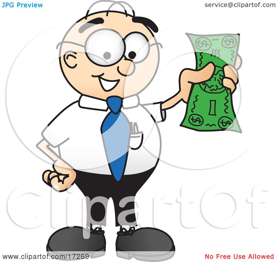 Dollar Man Cartoon Man Mascot Cartoon