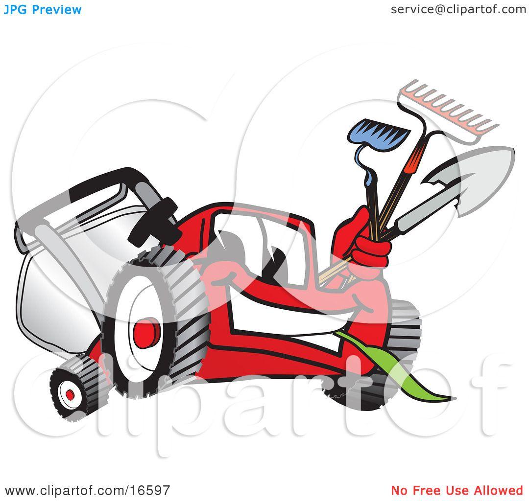 free cartoon lawn mower clipart - photo #37