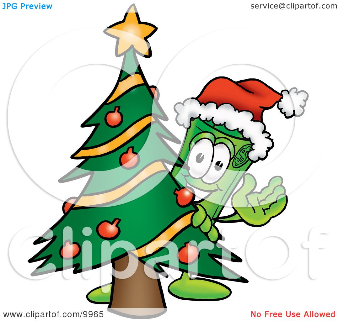 Clipart Picture of a Rolled Money Mascot Cartoon Character ...