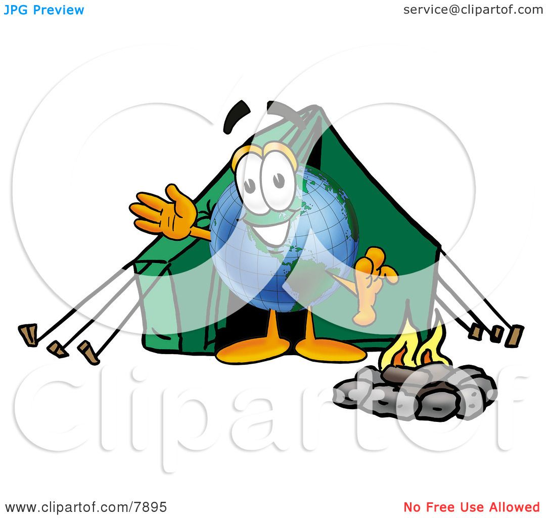 Clipart Picture Of A World Earth Globe Mascot Cartoon