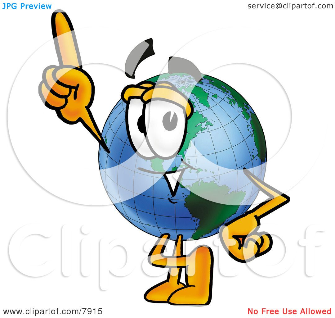 Clipart Picture of a World Earth