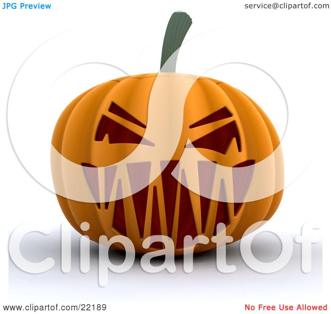 Scary Jack O Lantern Clipart