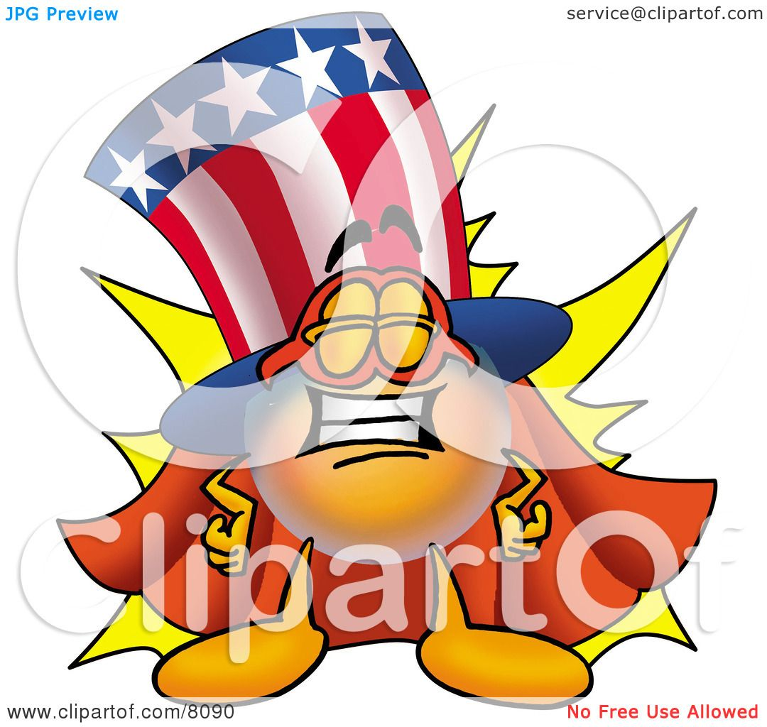 Super 4 Cartoon Characters : Clipart picture of an uncle sam mascot cartoon character