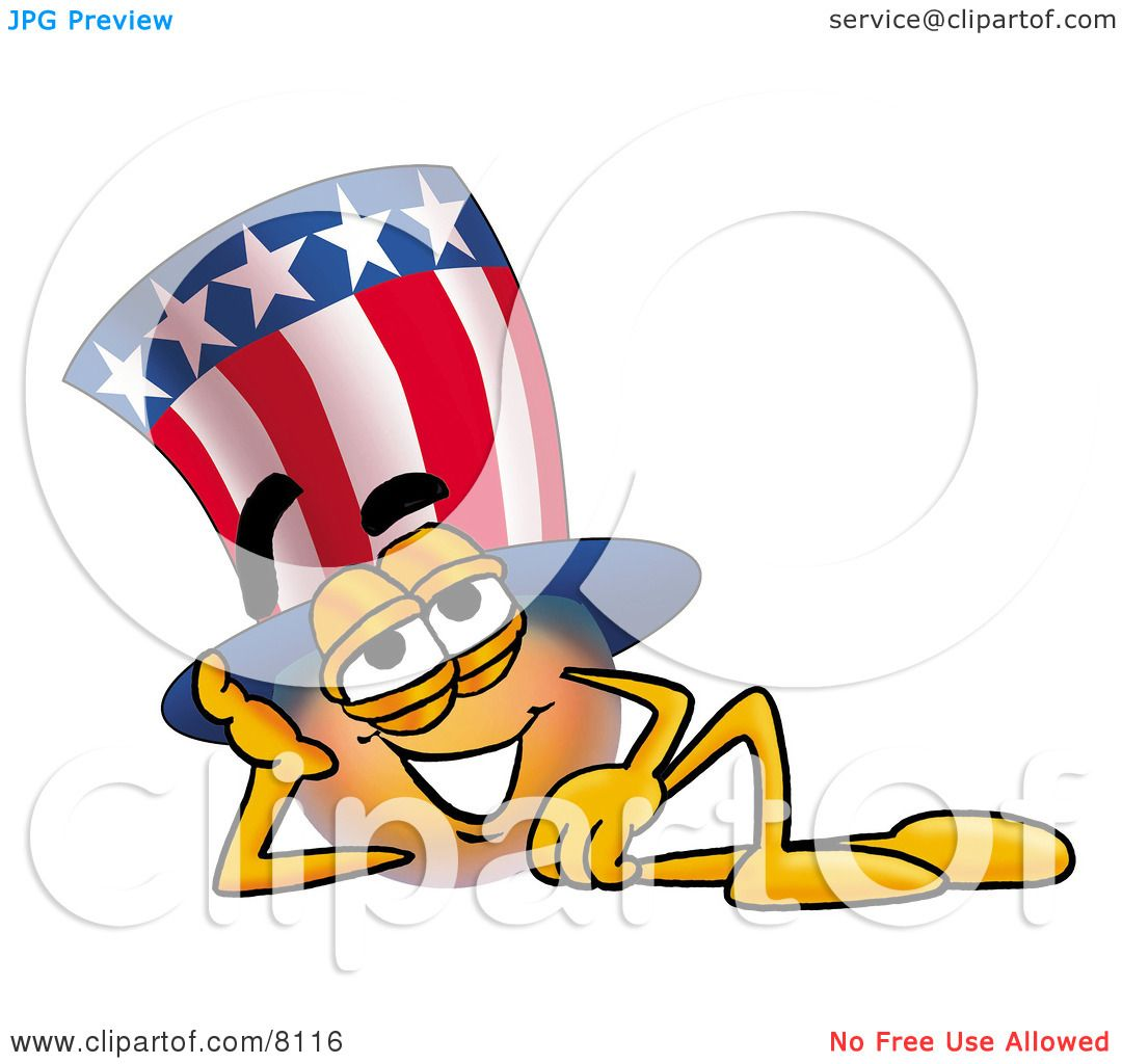 Clipart Picture of an Uncle Sam Mascot Cartoon Character ...