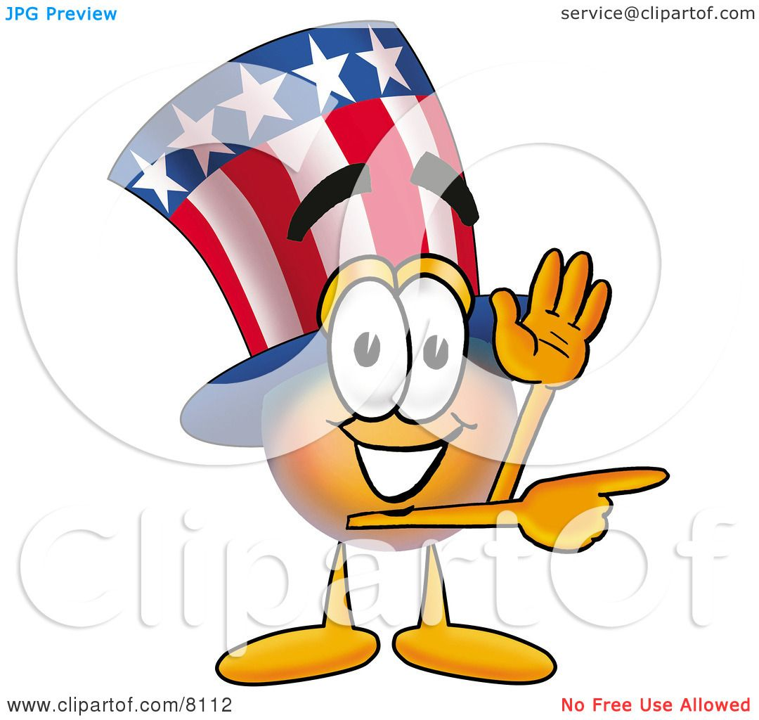 Clipart Picture of an Uncle Sam Mascot Cartoon Character