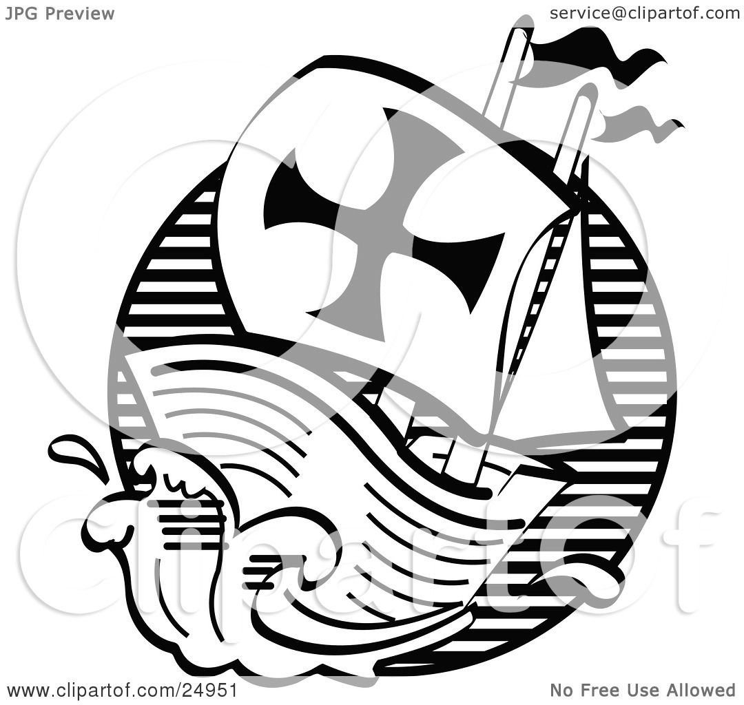 Clipart Picture of The Mayflower Ship Transporting Pilgrims To ...
