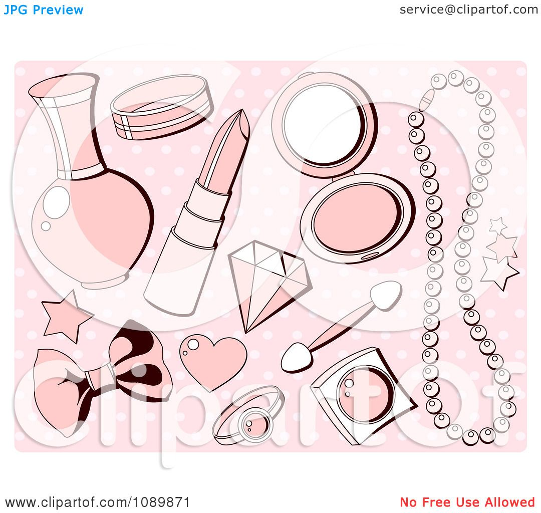 Best Cartoon Makeup Wallpaper - Clipart-Pink-Girly-Makeup-And-Accesories-Over-Polka-Dots-Royalty-Free-Vector-Illustration-10241089871  Best Photo Reference_518343.jpg