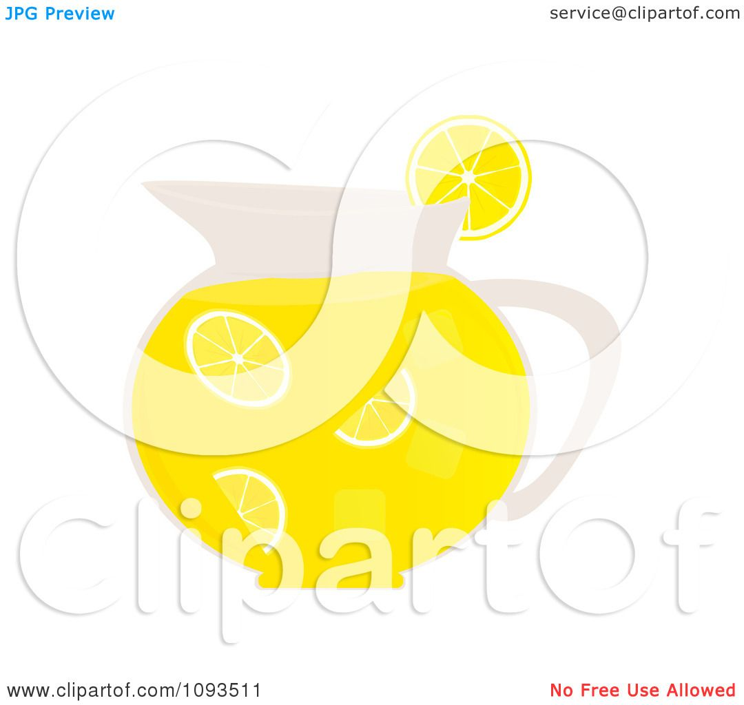 Clipart Pitcher Of Lemonade - Royalty Free Vector Illustration by ...