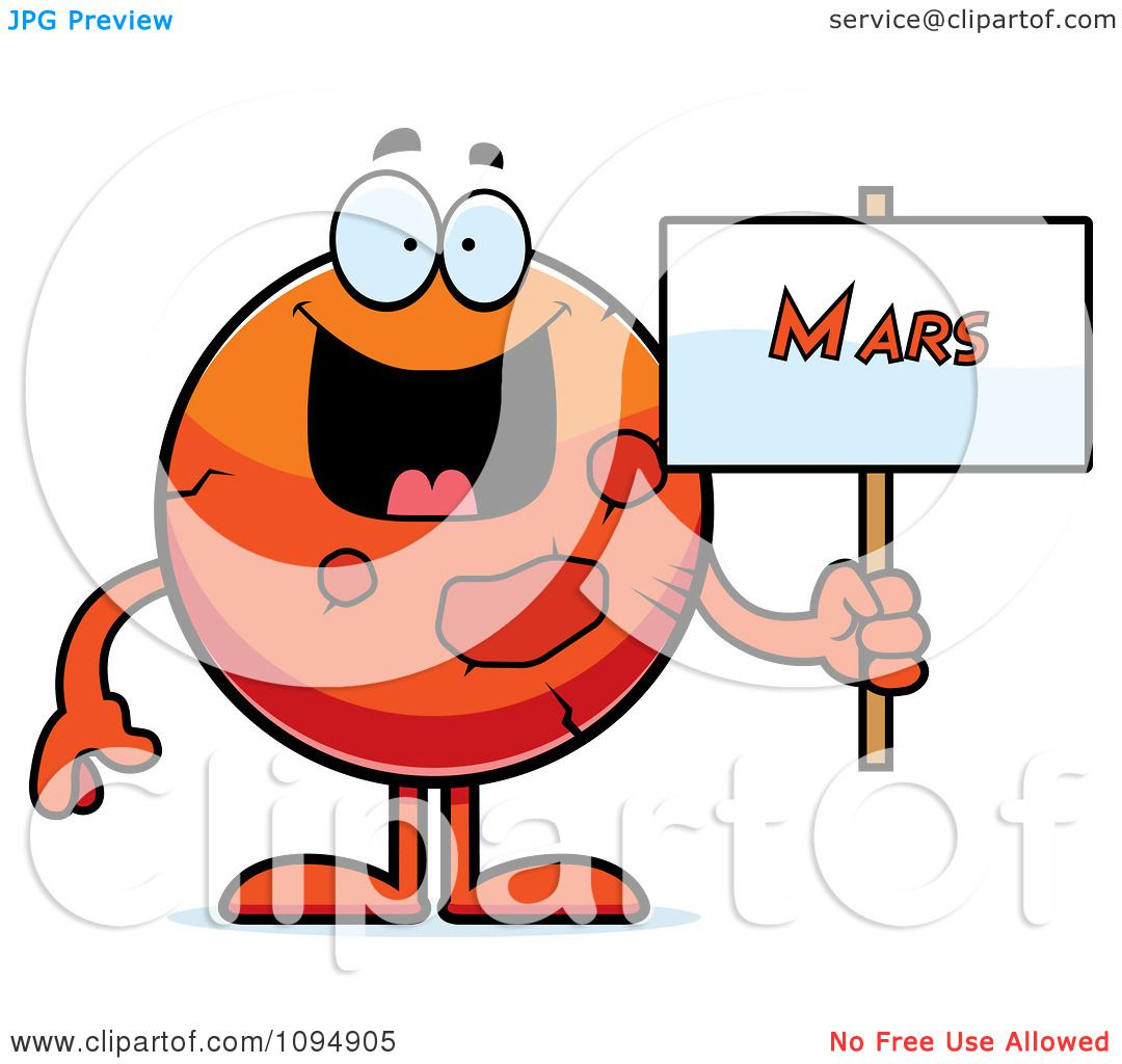 clipart planet mars holding a sign royalty free vector rh clipartof com clipart of marketing clipart of martin luther