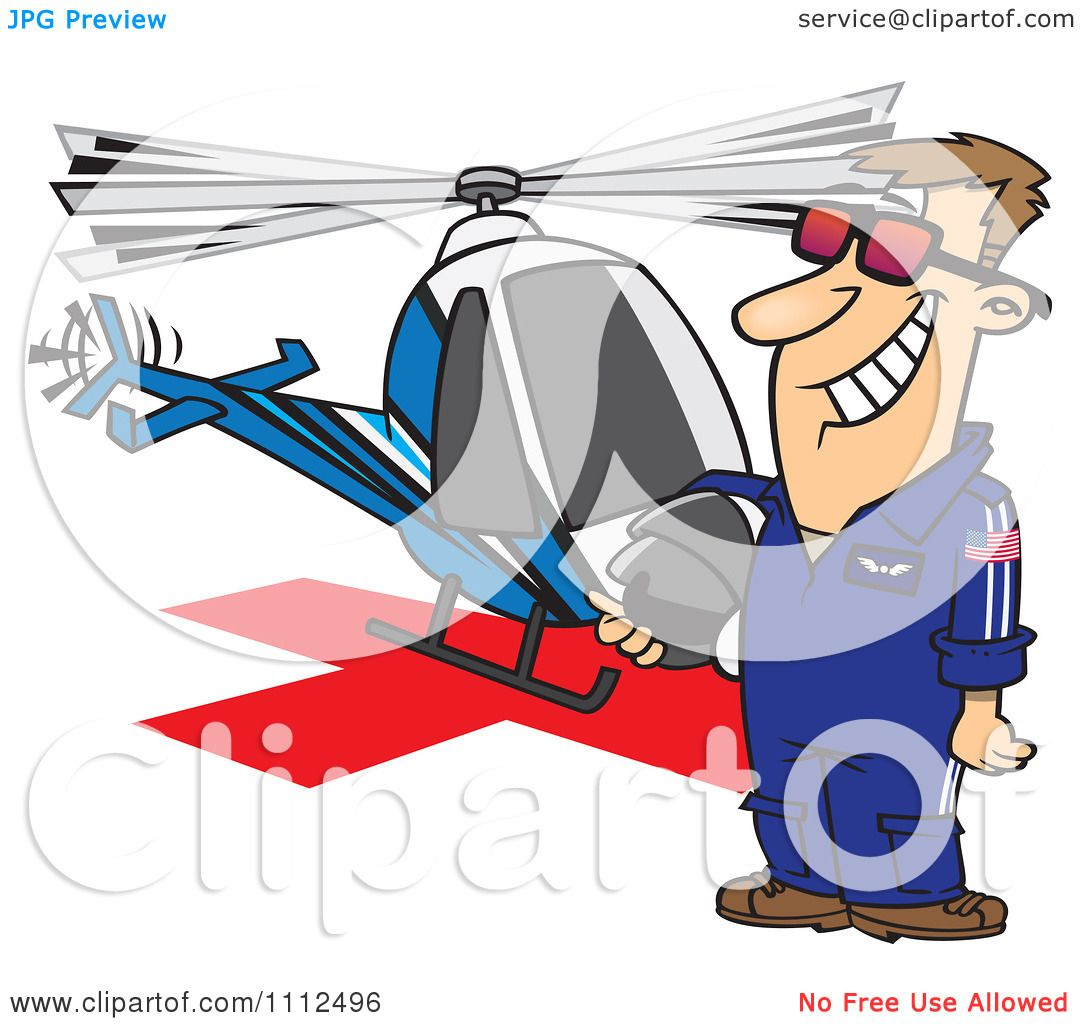 Chopper Helicopter Drawing Clipart Proud Helicopter Pilot