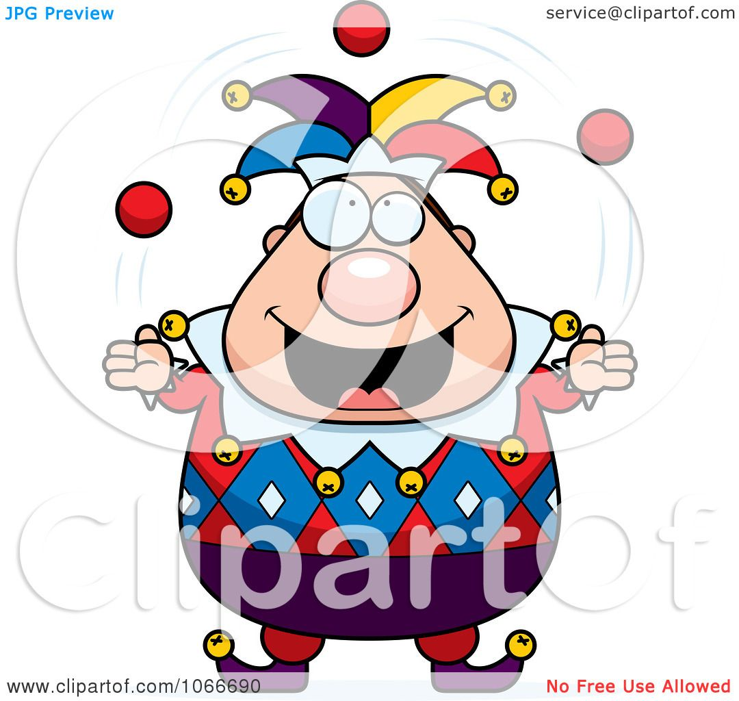 Jester Juggling Clipart Pudgy