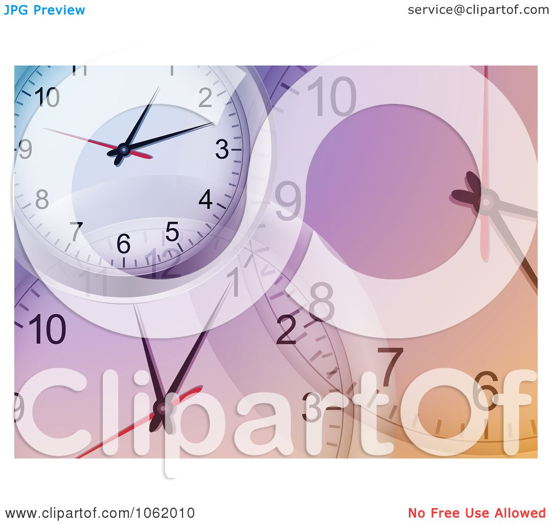 Clipart Purple Clock Background - Royalty Free Vector Illustration ...