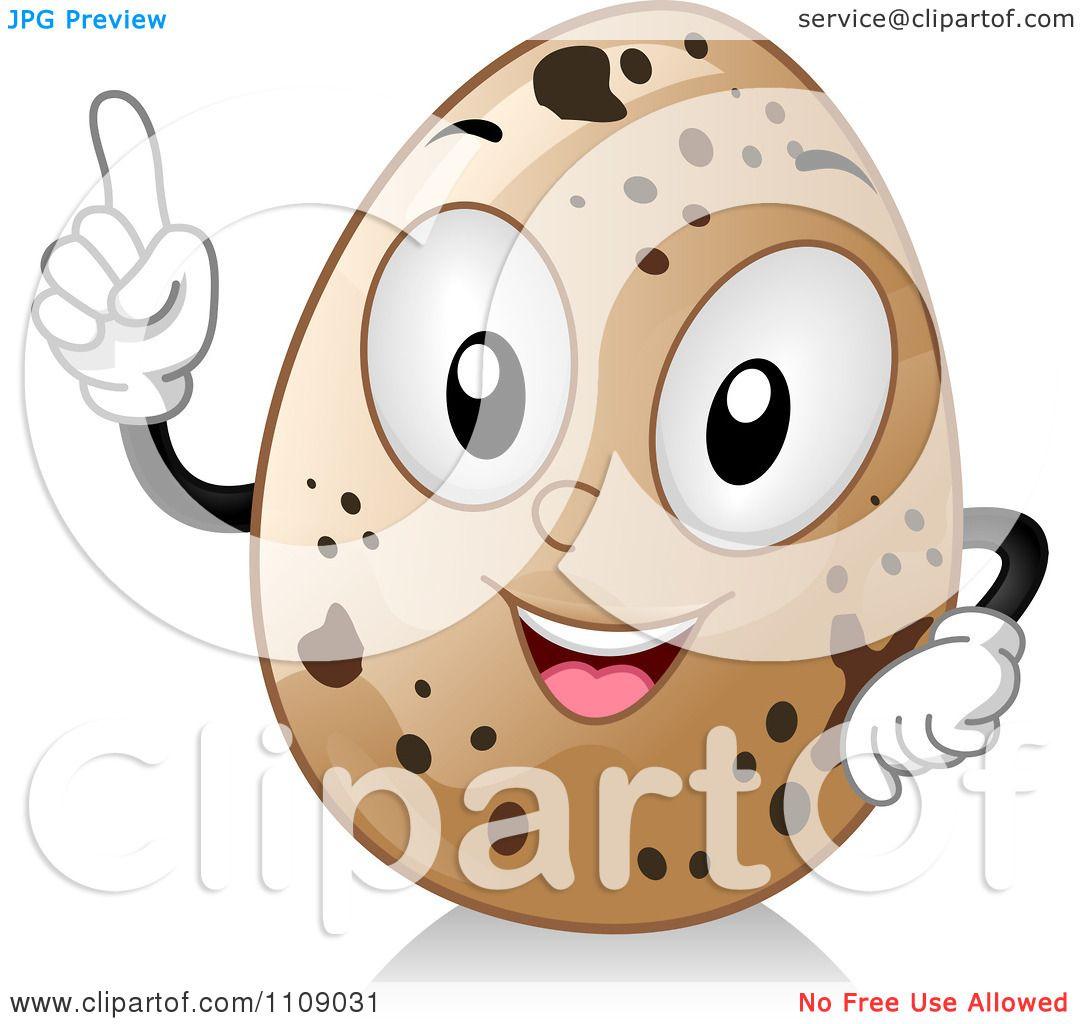 Clipart Quail Egg Mascot With  Quail Egg Clip Art