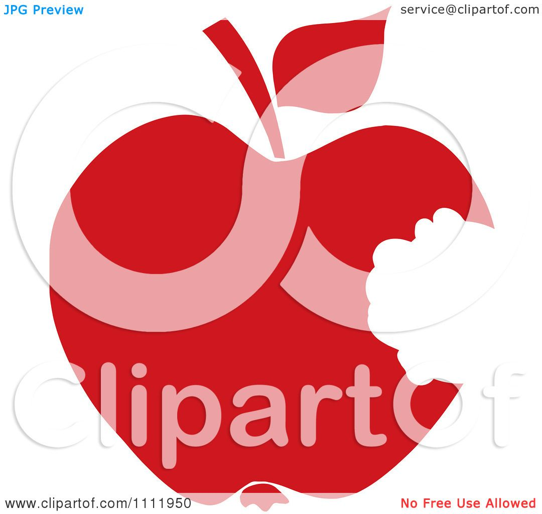 Clipart Red Apple With A Missing Bite - Royalty Free Vector ...