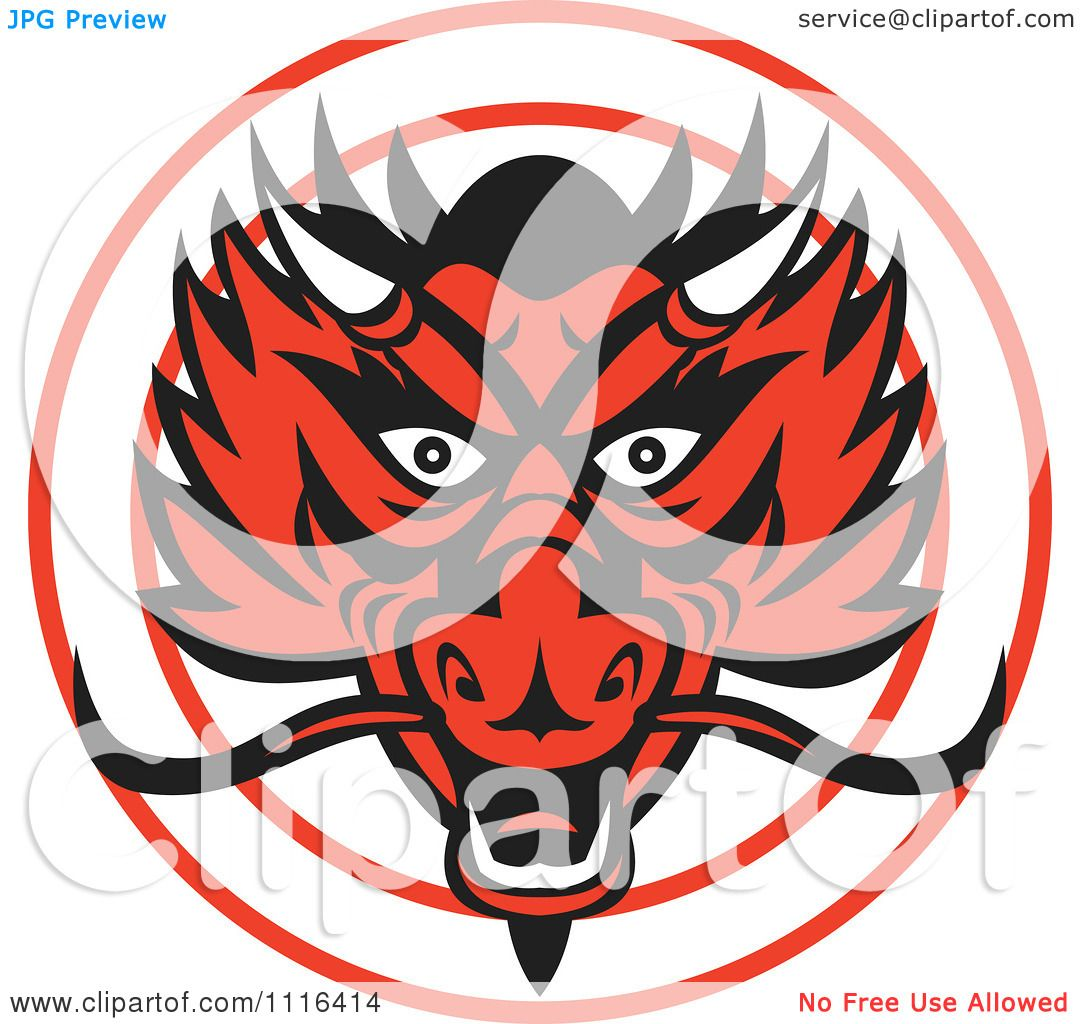 d28376966 Clipart Red Chinese Dragon Head In A Circle - Royalty Free Vector  Illustration by patrimonio